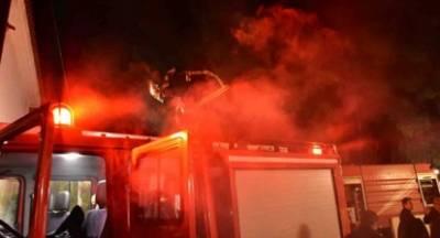 Πυρκαγιά σε αποθήκη στο Κρανίδι