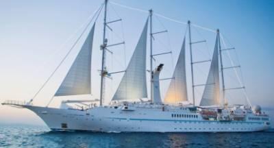 Το κρουαζιερόπλοιο Windstar στο Γύθειο