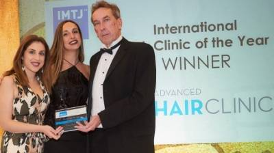 Η Advanced Hair Clinics βραβεύεται ως International Hair Clinic of the Year για τρίτη φορά!