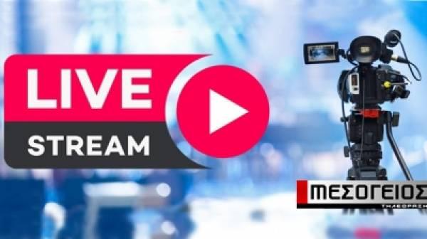 Πρωτιά της τηλεόρασης Μεσόγειος. Eπιλέγετε το δελτίο ειδήσεων στο live stream