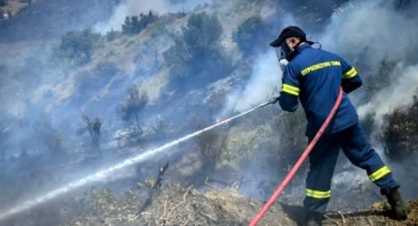 Ευτυχώς έσβησαν αμέσως τη φωτιά κοντά στο Νοσοκομείο Σπάρτης