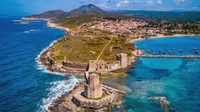 Το μεσαιωνικό κάστρο της Μεθώνης από ψηλά (video)