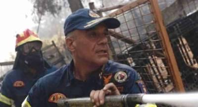 Πρώτος στο μέτωπο της φωτιάς ο Στρατηγός του Π.Σ. Κολοκούρης