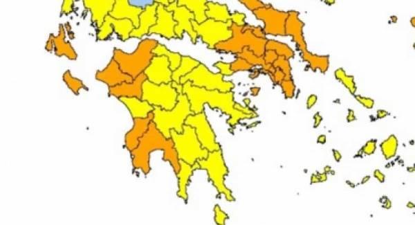 Πολύ μεγάλος κίνδυνος πυρκαγιάς στην Πελοπόννησο!