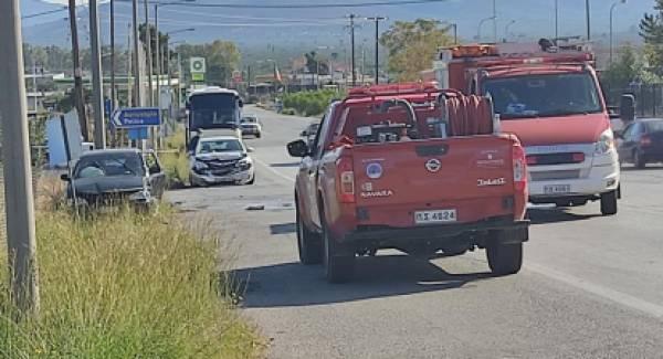 Τροχαίο ατύχημα στην ΕΟ των Μολάων