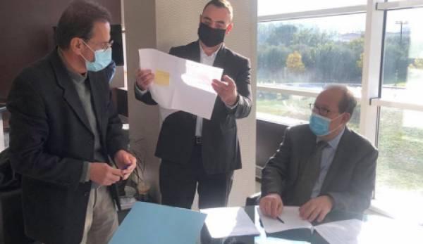 Συμβάσεις έργων 2,1 εκ € στη Λακωνία υπέγραψε ο Νίκας στη Σπάρτη