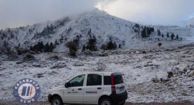 Χιόνισε στον Χελμό! (video)