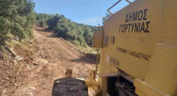 Έργα Αγροτικής Οδοποιίας στις οκτώ Δημοτικές Ενότητες του Δήμου Γορτυνίας