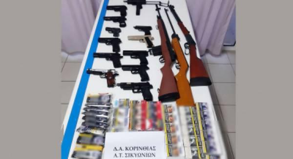 Συνελήφθη στο Κιάτο με οπλοστάσιο αεροβόλων και λαθραίο καπνό