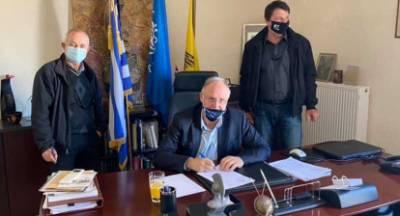 Υπογραφή και αυτοψία έργων στον Δήμο Σπάρτης
