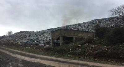 Τρίπολη: Μεγάλη φωτιά στη χωματερή του Αγίου Βλάση (video)