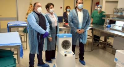 Δωρεά υπερσύγχρονου ρομποτικού συστήματος απολύμανσης του Δήμου στο Νοσοκομείο Καλαμάτας