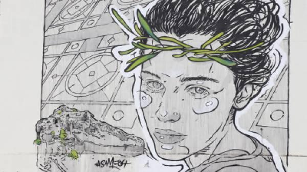 Δημιουργία του καλλιτέχνη Same84 στο κτηριακό συγκρότημα του 2ου Γυμνασίου – 2ου ΓΕΛ Σπάρτης (photos)
