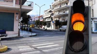Φανάρια τώρα στη διασταύρωση του ΚΤΕΛ Σπάρτης