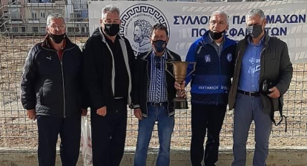 Οι Παλαίμαχοι Ποδοσφαιριστές στήριξαν το κοινωνικό παντοπωλείο του Δήμου Πατρέων