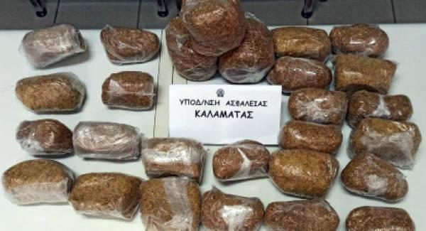 Συνελήφθη 60χρονος στη Μεσσηνία με 3,5 κιλά λαθραίου καπνού