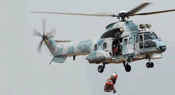 Επιχείρηση διάσωσης ναυτικού με ελικόπτερο νότια των Κυθήρων