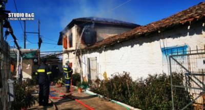 Πυρκαγιά καταστρέφει σπίτι στην Αργολίδα (video)
