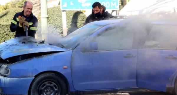Κάηκε αυτοκίνητο στο κέντρο της Σπάρτης! (video)