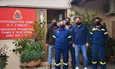 Κρητικός: «Θεσμός ζωτικής σημασίας οι εθελοντές Πυροσβέστες»