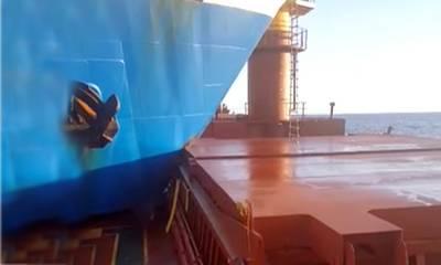 Δείτε video με «καρφωμένα» τα δύο φορτηγά πλοία ανοικτά των Κυθήρων