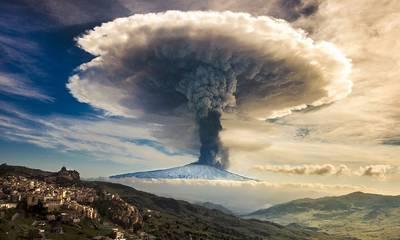 Aπίστευτο! Η ηφαιστειακή τέφρα ταξιδεύει από τη Σικελία μέχρι τα Αντικύθηρα! (photos)
