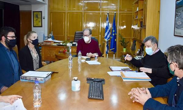 Συνεργασία του περιφερειάρχη Πελοποννήσου με υπηρεσιακούς και με φορείς της Π.Ε. Μεσσηνίας