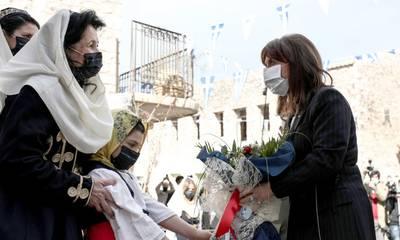 Στην Αρεόπολη η Σακελλαροπούλου για την επέτειο έναρξης της Επανάστασης του 1821