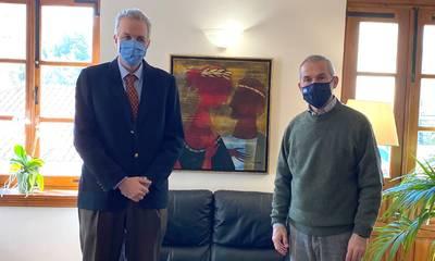 Συνάντηση Δαβάκη με τον Πρύτανη του Πανεπιστημίου Πελοποννήσου με φόντο τη Νοσηλευτική Σχολή