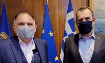 Με τον υπουργό Εθνικής Άμυνας συναντήθηκε ο Νεοκλής Κρητικός