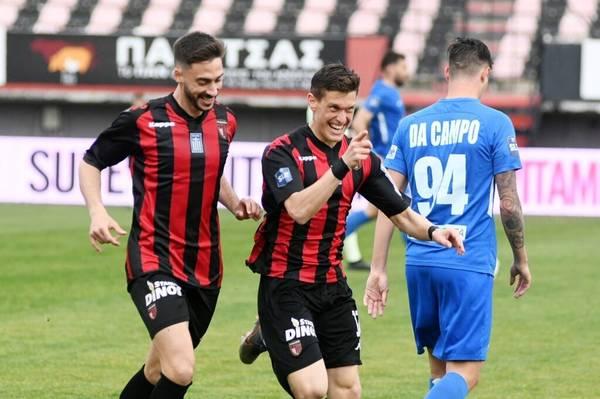 Παναχαϊκή - Απόλλωνα Λάρισας 1-0: Σπουδαία νίκη με 10 παίκτες!