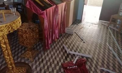 Εισβολή κλεφτών σε εξωκκλήσι της Τραπεζοντής Σπάρτης (photos)