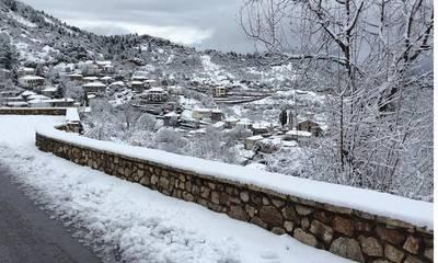 Χιόνι και κρύο στην Γορτυνία! (photos)