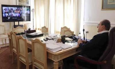 Τηλεδιάσκεψη με τον Υπουργό Οικονομικών Χρήστο Σταϊκούρα για τα μέτρα στήριξης