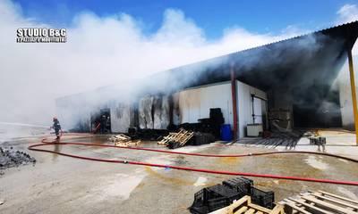 Ναύπλιο: Πυρκαγιά σε εργοστάσιο στο Παναρίτι (photos)