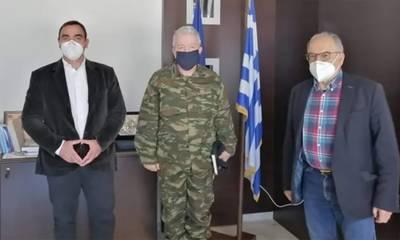 Ο Θεόδωρος Βερούτης καλωσόρισε τον νέο Ταξίαρχο του Κ.Ε.Ε.Μ.