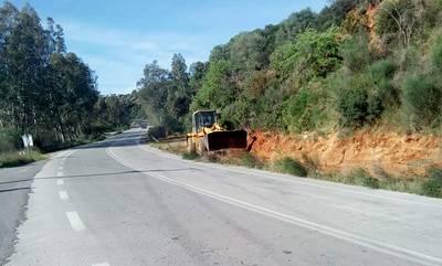 Βελτίωση απορροής ομβρίων και καθαρισμοί οδικού δικτύου στην Π.Ε. Λακωνίας