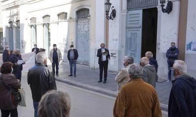 Ο Δήμαρχος Πελετίδης στην πορεία των συνταξιούχων!