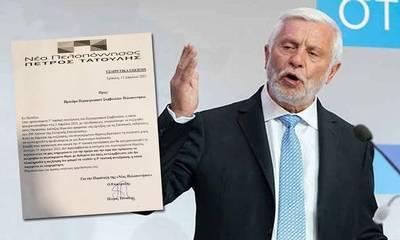 Ο Τατούλης κάνει λόγο για θεσμική εκτροπή στο ΠεΣυΠ. Αποκαλύπτει αλληλογραφία με τον πρόεδρο Σκαντζό