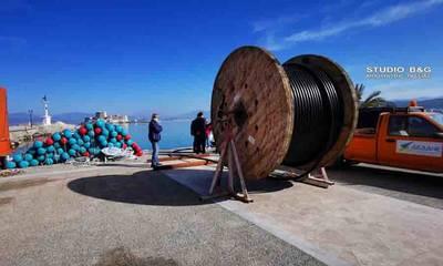 Φωςστο Μπούρτζι με έργο πόντισης καλωδίου από την ΔΕΔΔΗΕ (photos)