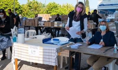 Με επιτυχία η διανομή τροφίμων από το ΤΕΒΑ και το Κοινωνικό Παντοπωλείο στο Δήμο Σικυωνίων
