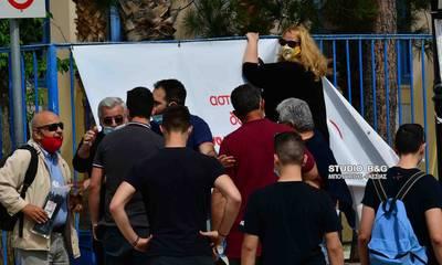 Εργατική Πρωτομαγιά: Ένταση στο Ναύπλιο στις συγκεντρώσεις - Αιτία ένα πανό (video)