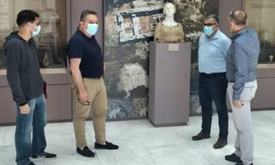 Επίσκεψη στο Αρχαιολογικό Μουσείο Πύργου ενόψει της ανάπλασής του
