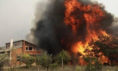 Φωτιά στο Σχίνο Κορινθίας: Εκκενώθηκαν τέσσερις οικισμοί, κάηκαν σπίτια - Νέα ειδοποίηση από 112