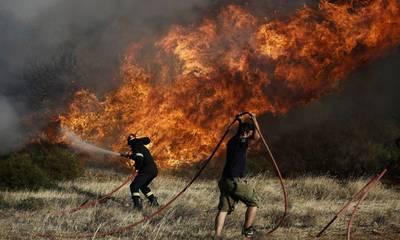 Φωτιά σε εξέλιξη στην Ανατολική Μάνη