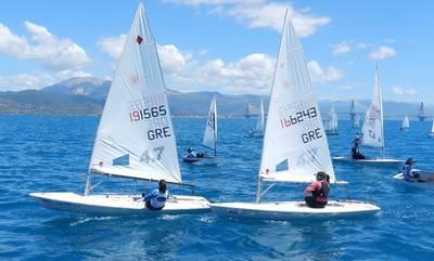 Η Αλεξάνδρα Σιγουλάκη του Ναυτικού Ομίλου Λακωνίας 2η στην κατηγορία LASER 4.7