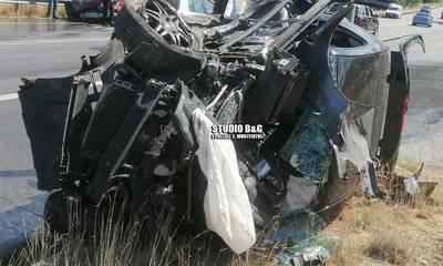 Αργολίδα: Σοκαριστικές εικόνες από τροχαίο στην Δήμαινα - Νεκρός ο τραυματίας