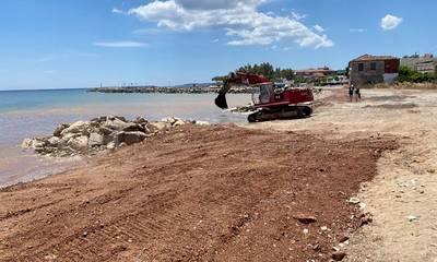 Μεσσήνη: Προχωρούν οι εργασίες στην παραλία της Αίπειας