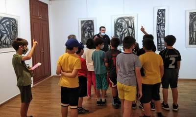 Ξενάγηση του 3ου Δημοτικού Σχολείου Καλαμάτας στην Πινακοθήκη «Α. Τάσσος»