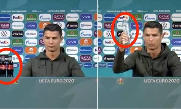 Euro 2020: «Τσαμπουκάς» Ρονάλντο σε Coca Cola...